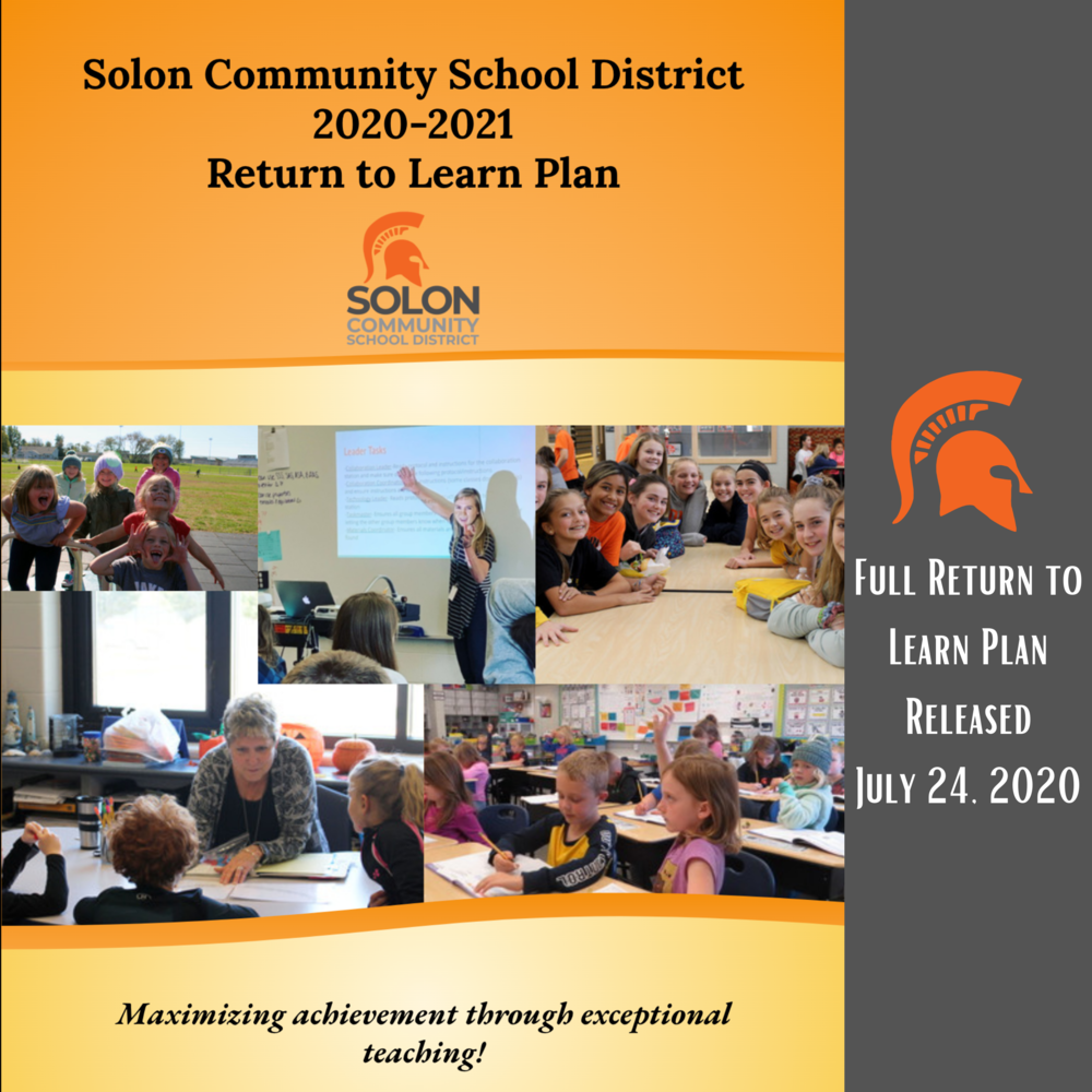 District Releases Full Return to Learn Plan Document