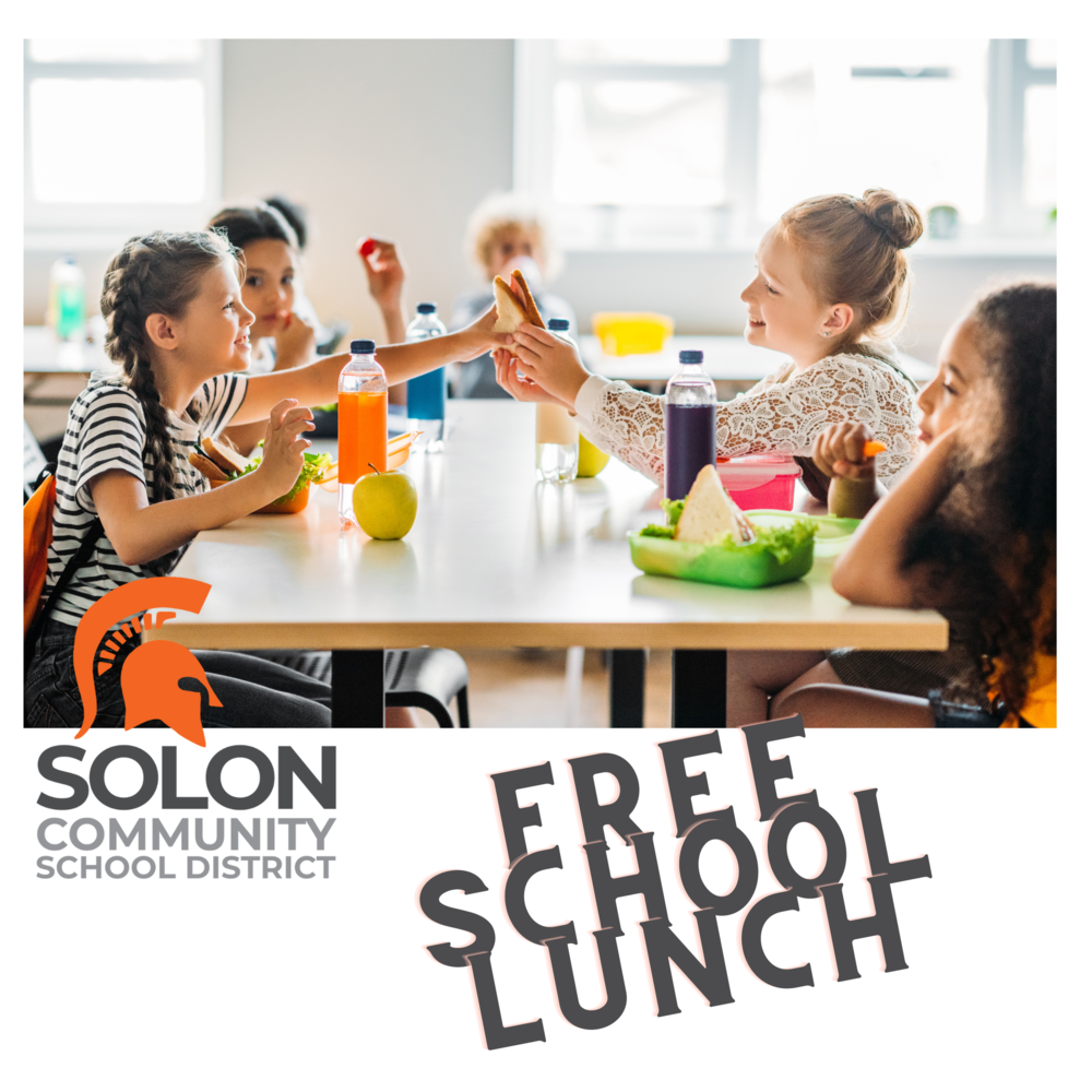 Solon Approved for USDA Free Lunch Program