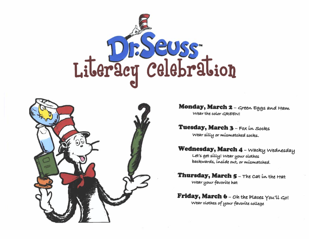 Literacy Celebration March 2-6