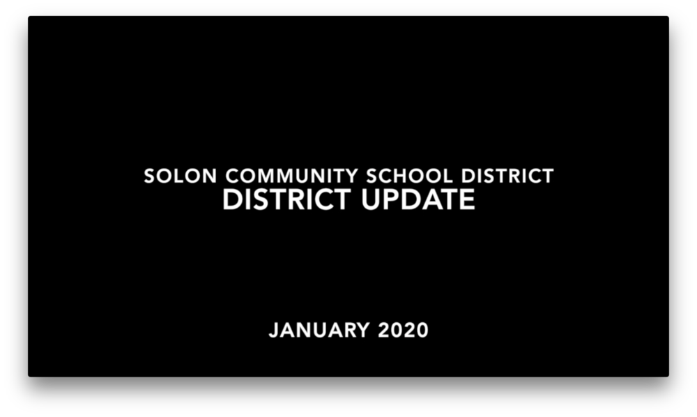 SCSD District Update - January 2020